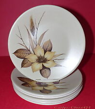 WASHINGTON POTTERY Ltd * Staffordshire * 6 Rare Contrast Side Plates * 18cm *