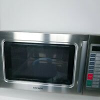 Daewoo Microwave Oven 1 Cu Ft 1500W Commercial ALL STAINLESS KOM-9P1CES W/DEFECT