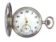 Art Deco 800 Tula Silber mechanische Herren Sprungdeckel Taschenuhr 50 mm antik