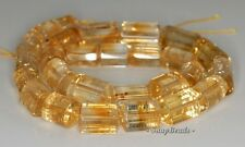 16X10-13X10MM CITRINE QUARTZ GEMSTONE ROUND TUBE TRIANGLE TUBE LOOSE BEADS 7.5""