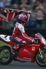 Carl Fogarty Hand Signed 12x8 Photo Ducati Superbikes 2.