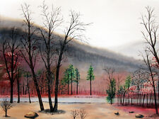 Mountain 6, Autumn, Fall, Landscape, Original Watercolor Painting, Signed, Art