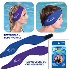 Macks Ear Band NUOTO Cerchietto mantiene Earplugs in e uscita acqua-gratis UK P & P