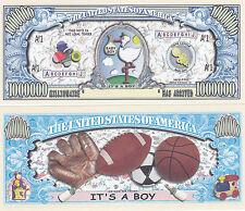 Two It's a Boy! Birth Announcement Keepsake Bills #157