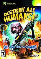 DESTROY ALL HUMANS! (Microsoft Xbox) w/ Case no Manual