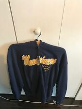 SECTION101 NCAA WVU Mountaineers Men's Full Zip Hoodie Fleece Jacket Blue & Gold