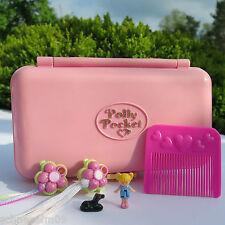Mini Polly Pocket Pretty Hair Playset Original Püppchen und Hund mini Wohnung