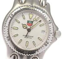 TAG HEUER S/el S99.013K Date White Dial Quartz Boy's Watch_614675