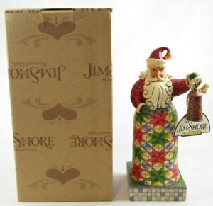 Jim Shore Heartwood Creek Holiday Bright Small Santa w/ Lantern Figurine 4010846