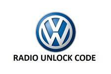 VW Volkswagen Radio Code PIN RCD510 RCD500 RCD315 RCD310 RCD300 Beta Gamma