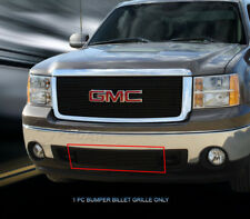 Black Billet Grille Front Bumper Grill For 2007-2013 2012 GMC Sierra 1500