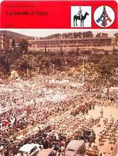 FICHE CARD La Bataille d'Alger FLN MNA Action du Général Massu 1957 France 90s