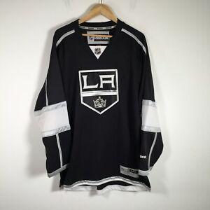 LA Kings NHL Ice Hockey Jersey size XL Reebok black long sleeve