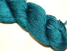 Teal Feather 420yd Skein Malabrigo Baby Silkpaca Alpaca & Silk Xsoft Luxury Yarn