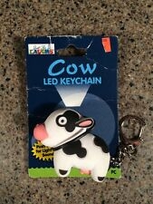 Cow Keychain with LED Light and Sound