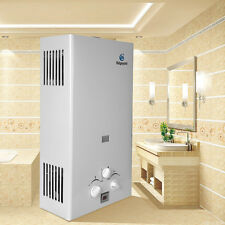 10L Termo Calentador de Gas LPG 20KW Vertical Acumulador Agua para Ducha Baño
