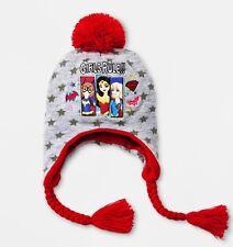 WONDER WOMAN SUPERGIRL Fleece-Lined Knit Peruvian Winter Hat Beanie  w Braids  15 a29b72ed250c