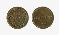 s421_7) LOMBARDO VENETO 1 CENTESIMO 1852 MILANO FRANCESCO GIUSEPPE I