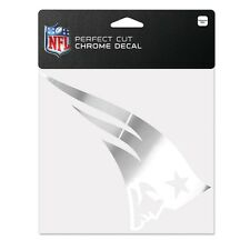 "New England Patriots 6""x6"" Chrome Auto Decal [NEW] NFL Car Emblem Sticker WC"