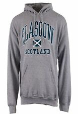 Children's Harvard Style Hooded Jumper Glasgow Text In Sports Grey 7-8 Years