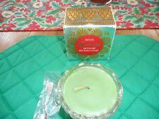 Vintage Avon Glass Fostoria Salt Cellar+Bayberry Candle+Little Spoon Unused