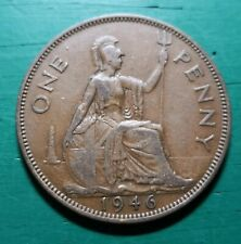 More details for 1946 1d king george vi one dot penny variety #168