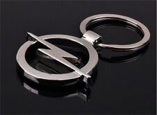 1 Pcs Hot key ring Opel car logo key chain silver color 3D promotional trinket