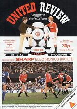 Manchester United V Liverpool 1982-83 Programme