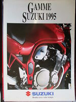 BROCHURE CATALOGUE DEPLIANT  GAMME 1995 MOTO SUZUKI    PROSPECTUS