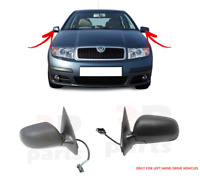 FOR SKODA FABIA 00-06 NEW WING MIRROR ELECTRIC HEATED BLACK PAIR SET LHD