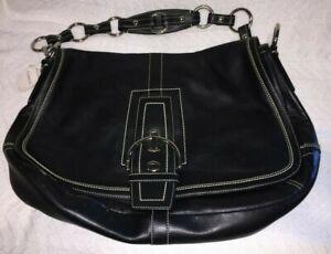 Coach L0682-10582 Soho XLarge Hobo Black Leather + Silver Hardware Shoulder Bag
