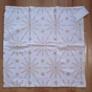 Nouveau coussin h/&m Housse Taie 50 x 50 cm beige blanc fantaisie oiseau Lin-look