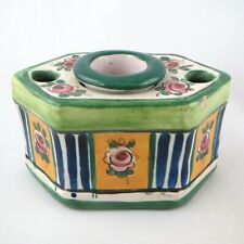 ENCRIER Ancien Faïence ALADIN FRANCE Renoleau Art Deco1930/antique inkwell...