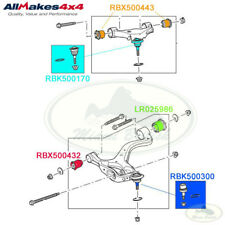 LAND ROVER FRONT UPPER LOWER SUSPENSION ARM BUSH & BALL JOINT SET RRS MR0062 AM