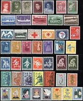 NETHERLANDS SC#B306-B352 SEMI-POSTAL Stamps Postage Collection 1957-1960 MINT LH