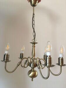 Flemish  Antique Brass 5 light Chandelier