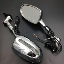 Honda CBR 600RR Kawasaki Ninja 636 ZX6R Yamaha YZF R6 R1 CHROME LED Mirrors