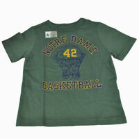 NCAA Notre Dame Fighting Irish Toddler Child Tshirt Basketball Tee Cotton Green