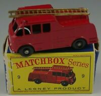 MATCHBOX LESN EY MERRYWEATHER MARQUIS SERIES III FIRE ENGINE #9 MADE IN ENGLAND