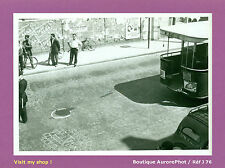 PHOTO DE POLICE CONSTAT D'ACCIDENT 1955, BUS, VIEILLE VOITURE  -J76