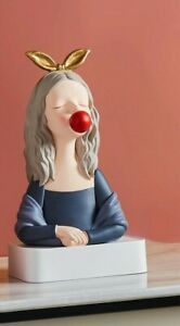 Creative Resin Modern Girl Statue Home Table Decoration Ornaments Sculptures