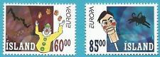 Island aus 2002 ** postfrisch MiNr.1009-1010 - Europa: Zirkus!   TOP!!!