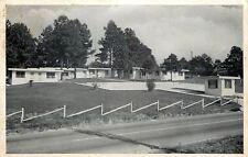 Griffin Georgia~Diagonal Fence At The Diane Court~1950s B&W Postcard