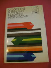 INDICATEUR INTERNATIONAL OFFICIEL SNCB CHEMIN DE FER BELGE 1980