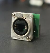 2x Neutrik NE8FDP Ethercon D Series CAT5 RJ45 Connector for Rackmount Rack Strip