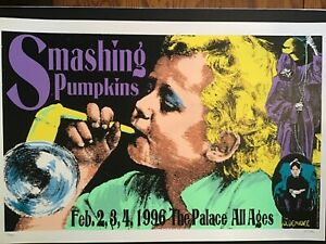 SMASHING PUMPKINS Poster signed and numbered By Frank Kozik