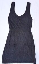 EX CON Witchery Size M Dress Sweater Knit Grey Sleeveless Pencil Office Layering