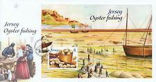 Jersey 2014 FDC Oyster Fishing 1v M/S Cover Ships Boats