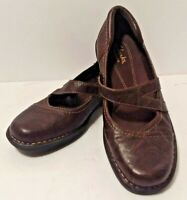 Sz 6 Clarks Bendables 39239 Women's Shoes Brown Leather Mary Jane Loafers Flats