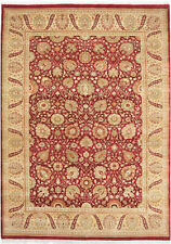6X9 Hand-Knotted Lahore Carpet Oriental Red Fine Wool Area Rug D13626